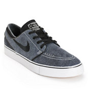 Nike SB Zoom Stefan Janoski Black & Light Ash Grey Skate Shoes