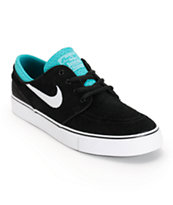 Nike SB Zoom Stefan Janoski Black & Turbo Green Youth Shoes