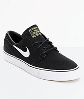 Nike SB Zoom Stefan Janoski Black & White Canvas Skate Shoe