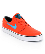Nike SB Zoom Stefan Janoski Light Crimson, Vivid Blue, & Black Skate Shoes