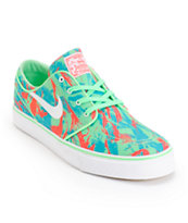 Nike SB Zoom Stefan Janoski Lucid Green & Light Crimson Shoes