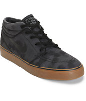 Nike SB Zoom Stefan Janoski Mid Anthracite, Black, & Gum Skate Shoes