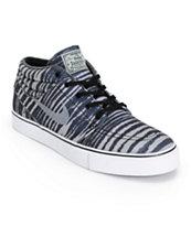 Nike SB Zoom Stefan Janoski Mid Base Grey Tiger Stripe Skate Shoes