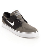Nike SB Zoom Stefan Janoski Midnight Fog, Black, & White Skate Shoe
