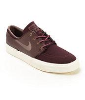 Nike SB Zoom Stefan Janoski PR Burgundy & Violet Skate Shoes