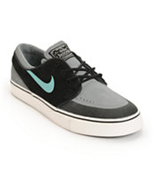 Nike SB Zoom Stefan Janoski PR SE Black, Crystal Mint, & Grey Skate Shoes
