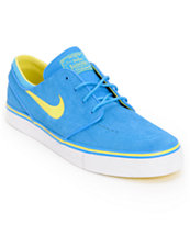 Nike SB Zoom Stefan Janoski Photo Blue & Yellow Suede Shoe