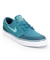 Nike SB Zoom Stefan Janoski Premium SE Night Factory, Crystal Mint, & Nightshade Skate Shoe