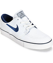 Nike SB Zoom Stefan Janoski Summit White & Midnight Navy Skate Shoes