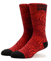 Nike Skateboarding Red Tiger Stripe Crew Socks