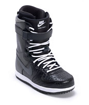 Nike Zoom Force 1 Black & White 2013 Snowboard Boots