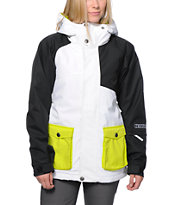 Nikita Dyngja White & Black 10K Girls Snowboard Jacket 2014