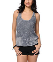 Nikita Fortune Charcoal Printed Split Back Tank Top