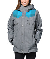 Nikita Mayon Grey 10K Girls Snowboard Jacket 2014