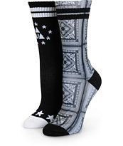 Ninth Hall 2 Pack Bandana & Stars Crew Socks