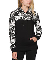 Ninth Hall Rick Black & White Floral Hoodie