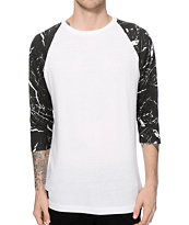 Ninth Hall Rock On Marble Baseball T-Shirt