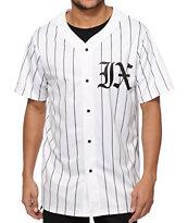 Ninth Hall Yogi Pinstripe Baseball Jersey