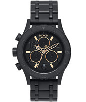 Nixon 38-20 Chrono All Black & Rose Watch