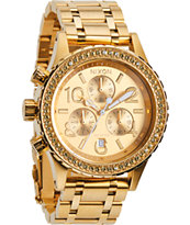Nixon 38-20 Chrono All Gold Crystal Watch
