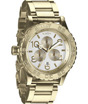 Nixon 42-20 Champagne Gold Chronograph Watch