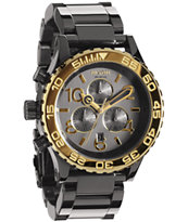 Nixon 42-20 Gun & Gold Chronograph Watch