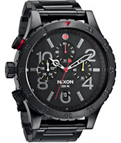 Nixon 48-20 All Black Chronograph Watch