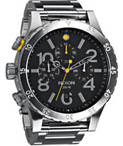 Nixon 48-20 Black Chronograph Watch