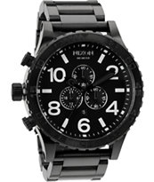 Nixon 51-30 All Black Chronograph Watch