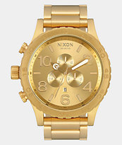 Nixon 51-30 All Gold Chronograph Watch