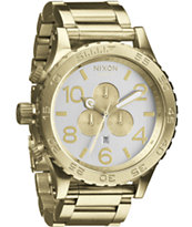 Nixon 51-30 Champagne Gold & Silver Chronograph Watch