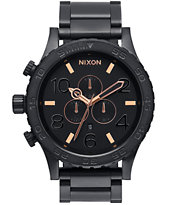 Nixon 51-30 Chrono All Black & Rose Watch