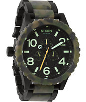Nixon 51-30 Matte Black & Camo Chronograph Watch