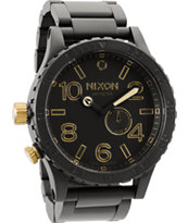 Nixon 51-30 Matte Black & Gold Analog Watch