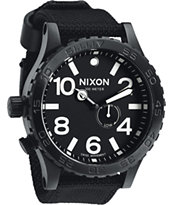 Nixon 51-30 Tide All Black Nylon Analog Watch