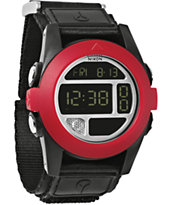 Nixon Baja Black & Red Compass Watch