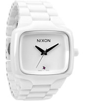 Nixon Ceramic Player All White Analog Watch