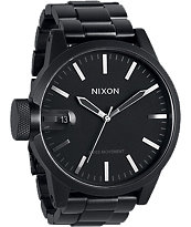 Nixon Chronicle SS Matte Black Analog Watch