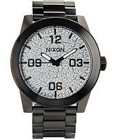 Nixon Corporal Black Crackle Watch