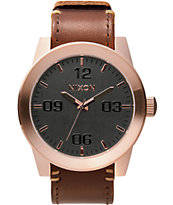 Nixon Corporal Leather Analog Watch