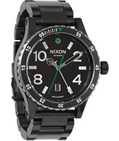 Nixon Diplomat SS Black & Silver Analog Watch