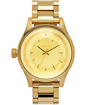 Nixon Facet 38 All Gold Watch