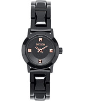 Nixon Mini B SS Black & Rose Gold Analog Watch
