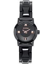 Nixon Mini B SS Black & Rose Gold Analog Watch