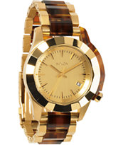 Nixon Monarch Gold & Molasses Girls Watch