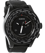 Nixon Passport All Black Chronograph Watch