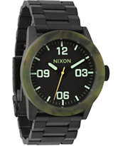 Nixon Private SS Matte Black & Camo Analog Watch