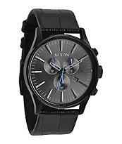 Nixon Sentry Leather Chronograph Analog Watch