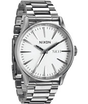Nixon Sentry SS White Analog Watch