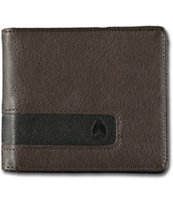 Nixon Showoff Brown Bifold Wallet